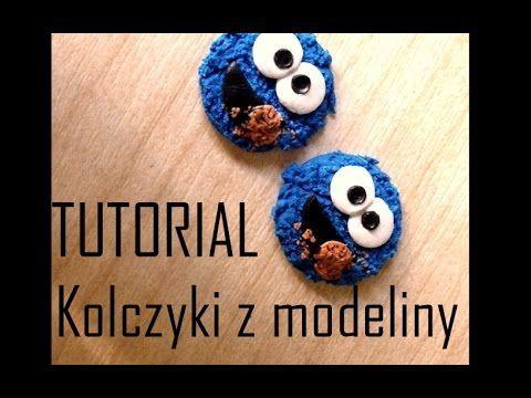 Kolczyki Z Modeliny ♡TUTORIAL♡ Cookie Monster