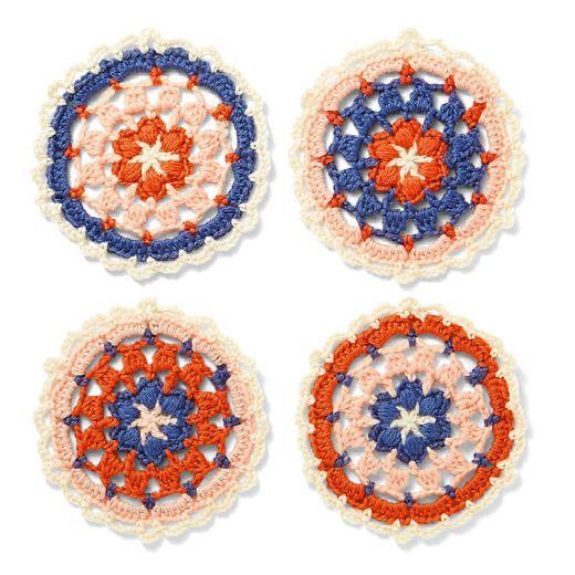 編んで広がるカラフルパターン 万華鏡みたいなかぎ針編みモチーフの会 | フェリシモ