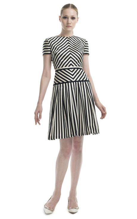 Valentino Geometric Striped Cocktail Dress ... can't take your eyes off of it!