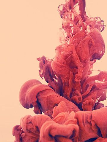 Red ink on water, by Alberto Seveso