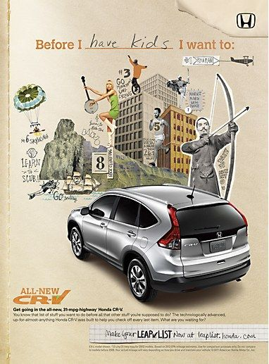 love this style for collateral/website - Honda CR-V print ...