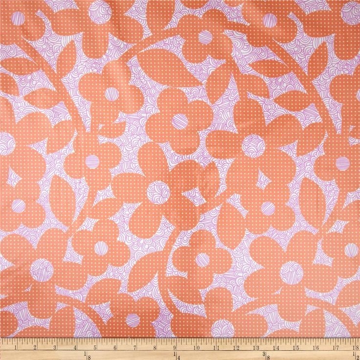 Erin Mcmorris Weekends Laminate Dots And Loops Peach from @fabricdotcom  Designed by Erin McMorris for Free Spirit, this laminated fabric meets the key provisions of the CPSIA (Comprehensive Consumer Product Safety Improvement Act of 2008). Does not contain any lead or thyolate. Soft, protective film is laminated to the face of the fabric, its softness makes this cloth extremely pliable for fashion, and the durability combined with easy-care convenience (cleans up easily with a damp cloth)…