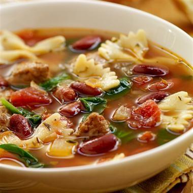Italian soup with turkey sausage