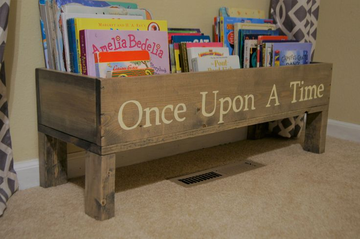 Nursery book shelf, baby nursery storage bin, kids storage, bookcase, book storage, toy storage, stuffed animal storage, kids room storage by MadisonMadeDecor on Etsy https://www.etsy.com/listing/273771322/nursery-book-shelf-baby-nursery-storage
