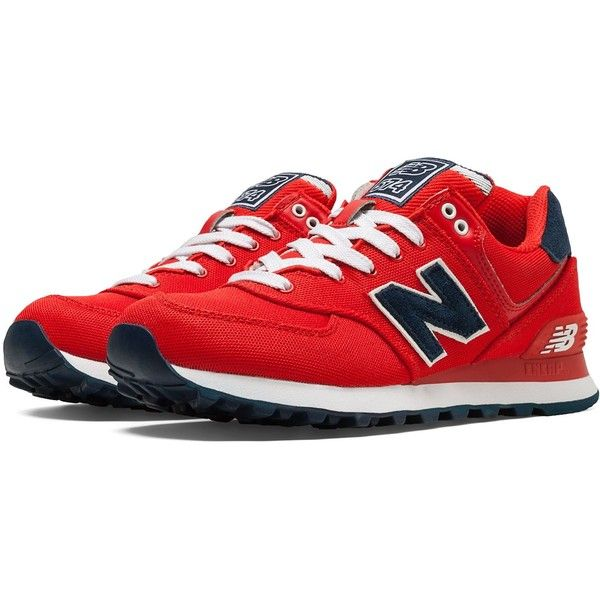 new balance shoes red and black. new balance | 574 pique polo pack women\u0027s wl574por ($92) ❤ shoes red and black