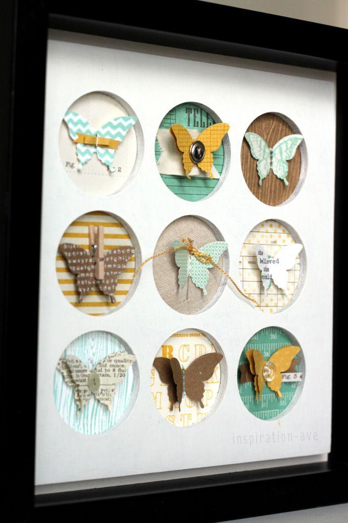 Such a fun idea! This is using the new  #StampinUp  Elegant Butterfly punch.   # Pin++ for Pinterest #