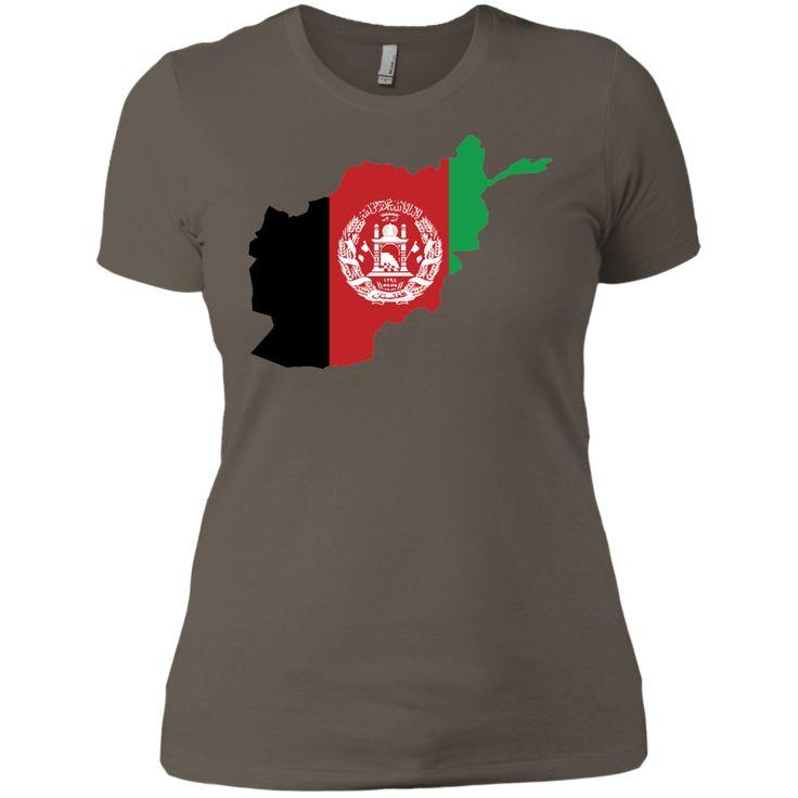 afghanistan flag -01 Next Level Ladies' Boyfriend Tee
