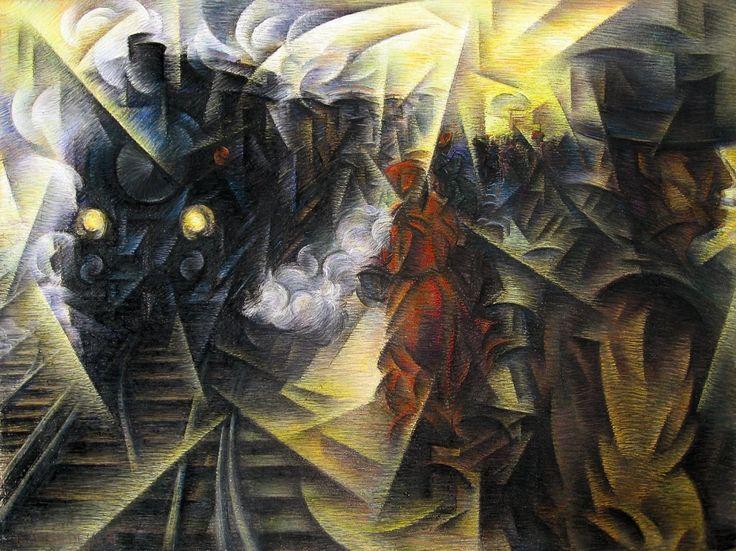 The train arriving at the station of Lugo, 1916 Roberto Marcello Iras Baldessari (1894-1965).: