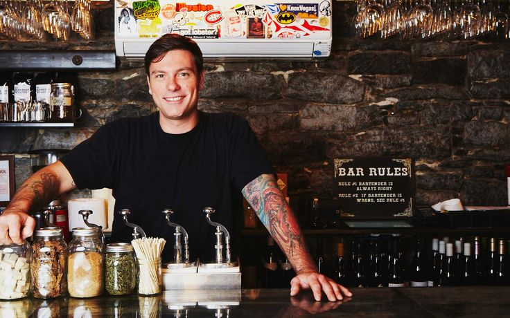 Chuck Hughes Garde Manger, Montreal....He's cute, nice, funny, a CHEF, AND has tattoos of food?!! What more could you want??
