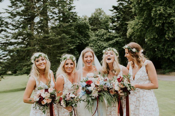 Bridesmaids in Sheike Dresses