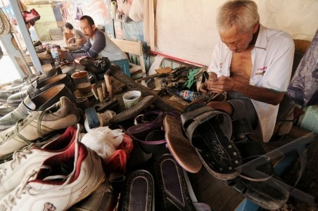 old man and old shoes