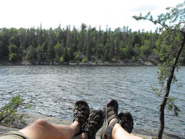 Relaxing on Wolf Lake,  Chiniguchi