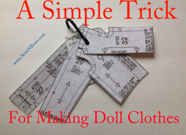 How To Transfer Doll Clothing Patterns