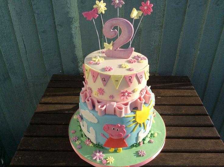 Peppa Pig birthday cake #peppapigcake