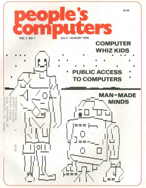 Awesome vintage ascii robots.