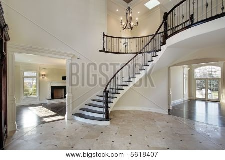 Entryway Staircase with indoor balcony For the Home Pinterest