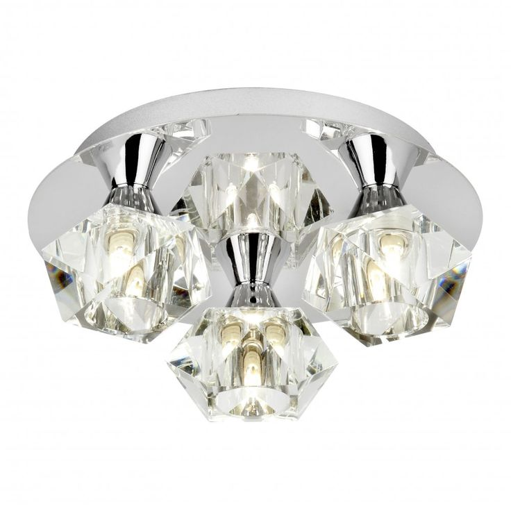 £83 Endon ARIETTA-3PCH Arietta 3 Light Semi-Flush Ceiling Light Chrome