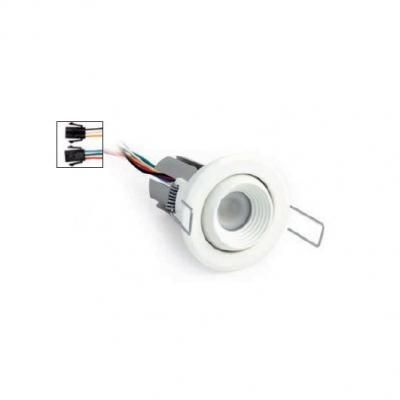 Foto LineaLight iLED Ellen Encastré Toit IP45 ø5,5cm LED 3x6w RGB 630mA Nickel