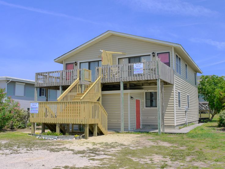 Escape II East a 4 Bedroom Almost Oceanfront Rental Duplex in Emerald Isle, part of the Crystal Coast of North Carolina. Includes Hi-Speed Internet