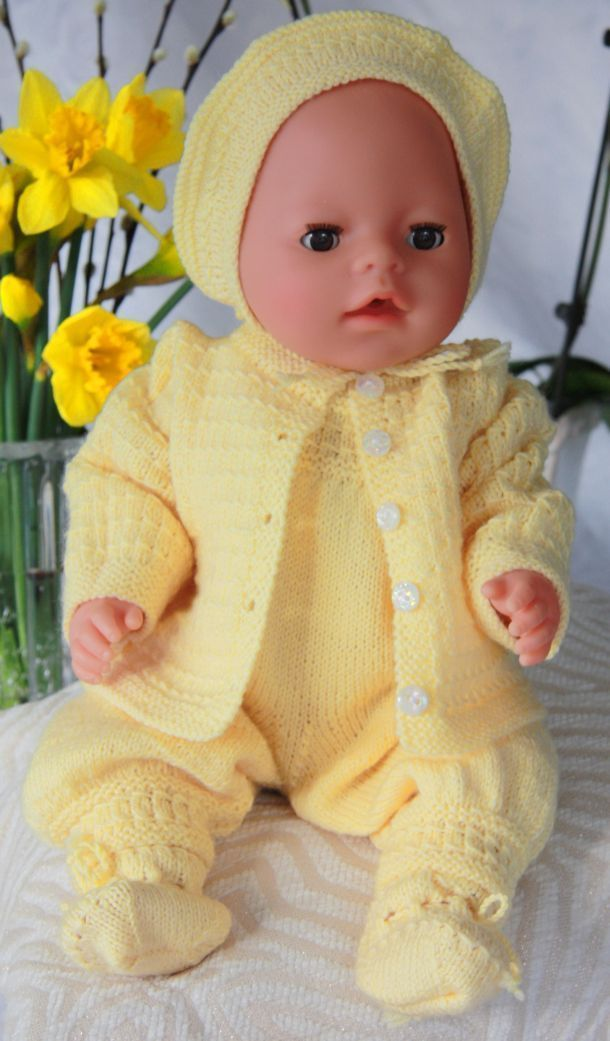 Baby Doll Knitting Patterns   Baby doll clothes patterns ...