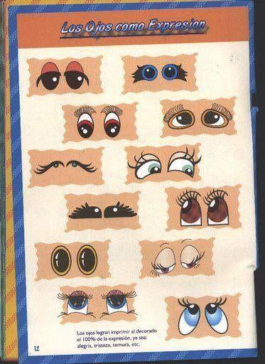 Distintas clases de ojos.