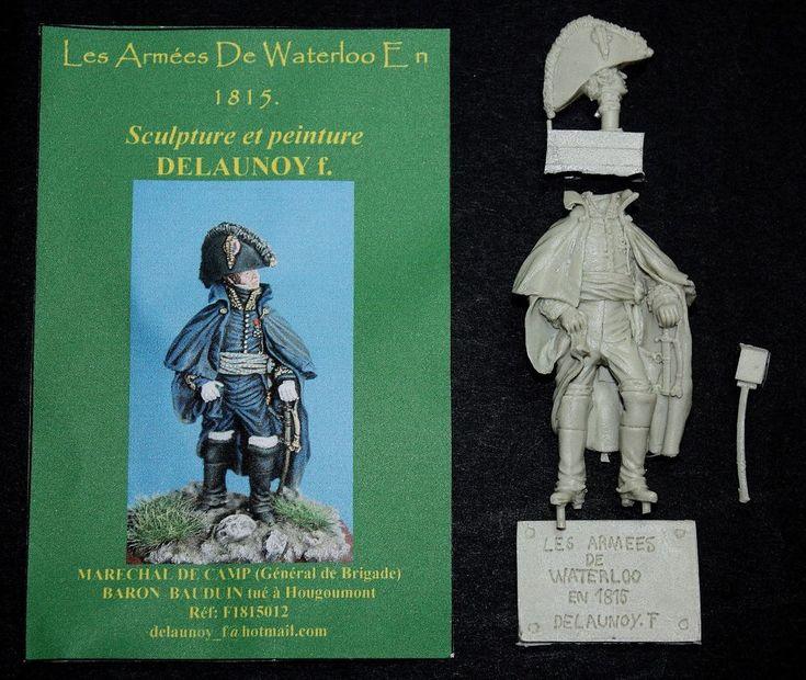LES ARMEES DE WATERLOO- GENERAL BAUDUIN-1815-NAPOLEON-WATERLOO-HOUGOUMONT-54mm