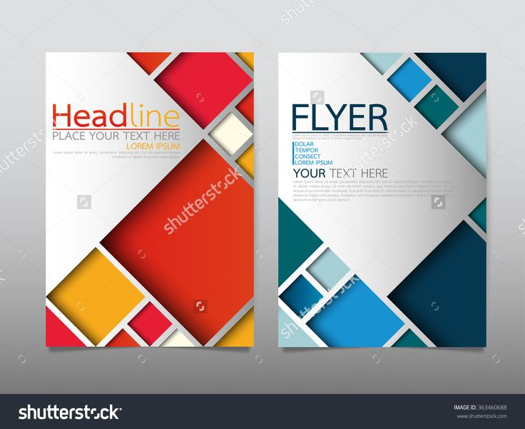 Business Brochure Flyer Design Template Vector.Geometric Square Abstract Background.Layout In A4 Size - 363460688 : Shutterstock