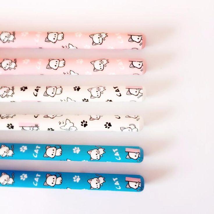 Cute Chibi Cat Gel Pen Set