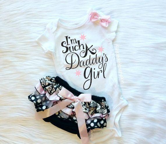De kleren van de meisje van de baby papa's door LittlePinkPumpkin