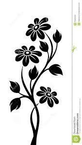 Resultado de imagem para silhueta flor