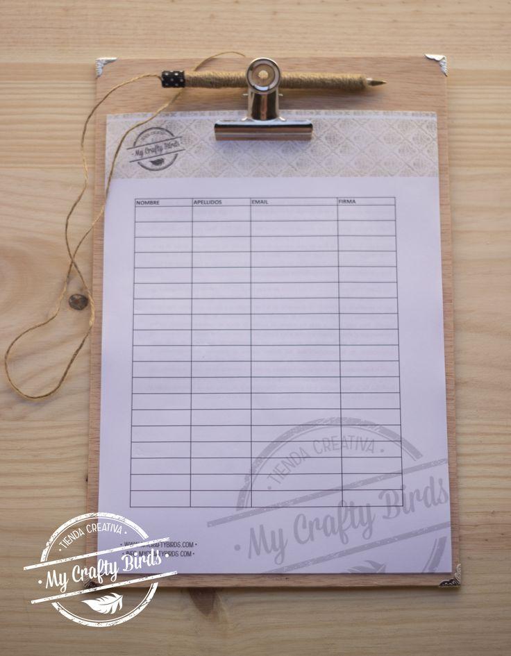tablilla | Cómo hacer una clipboard o carpeta con pinza
