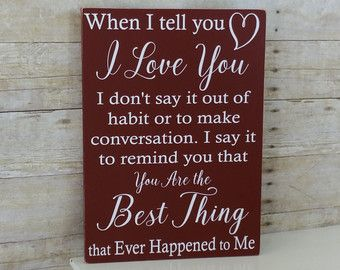 Anniversary Gift for Her - Anniversary gift for Him - Rustic Wood - I May Not Be…