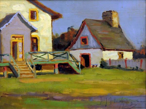 John Young JOHNSTONE - Farm House, Beaupré, Qué. (1923)