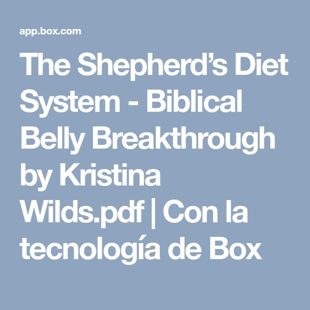 11 best salud images on pinterest clean eating meals health and the shepherds diet system biblical belly breakthrough by kristina wilds pdf con la fandeluxe Images