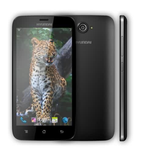 """El nuevo Hyundai SP Quad Leopard 5 es un smartphone con procesador Quad Core, pantalla de 5"""" multitáctil capacitiva y el último Android Kit Kat 4.4. Con Dual SIM para que puedas utilizar 2 tarjetas SIM a la vez, para que compaginar vida y trabajo no sea un problema. http://www.smartphonesinside.com/140538/hyundai-sp-quad-leopard-5"""