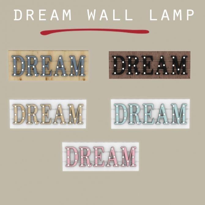 Dream Wall Lamp at Leo Sims • Sims 4 Updates