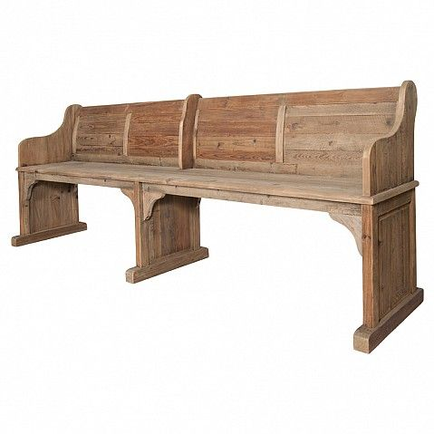 'Pew' in old bleached pine - Trade Secret