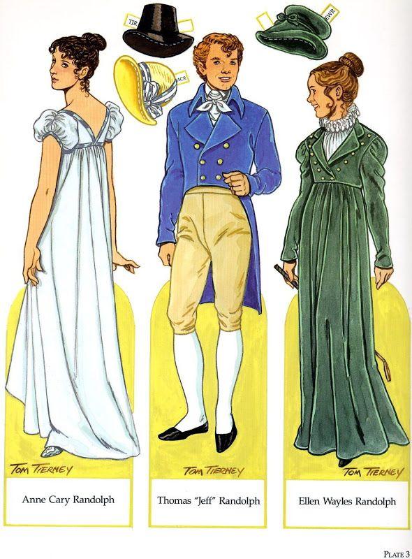 Martha jefferson randolph dress coloring