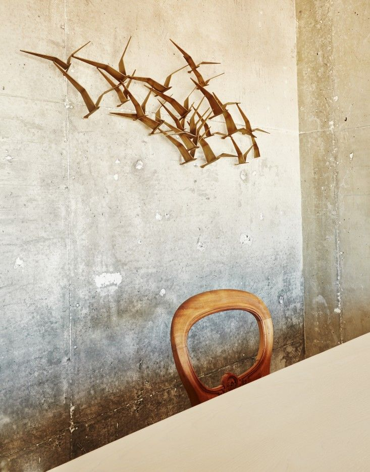 The Line Hotel in Koreatown Los Angeles | So bad it's good? A new sculpture inspired by mid-century artist Curtis Jere's metal flocks of birds.