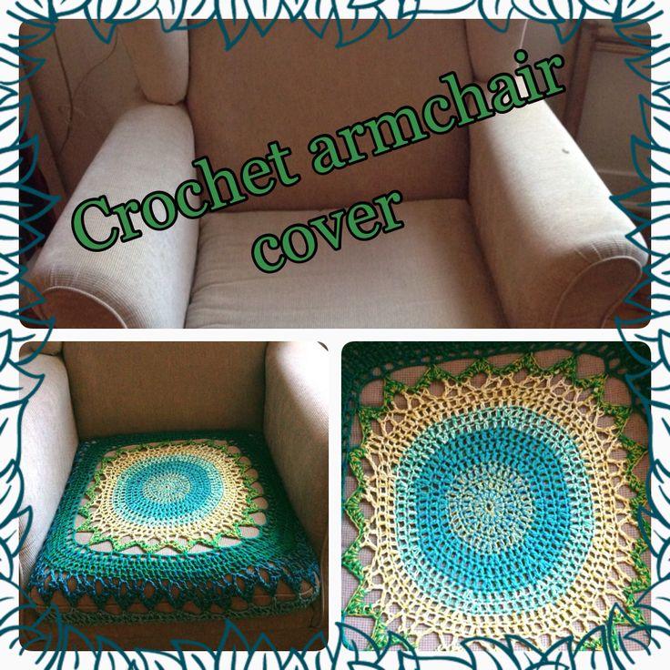 Crochet ArmChair Cover Homemade