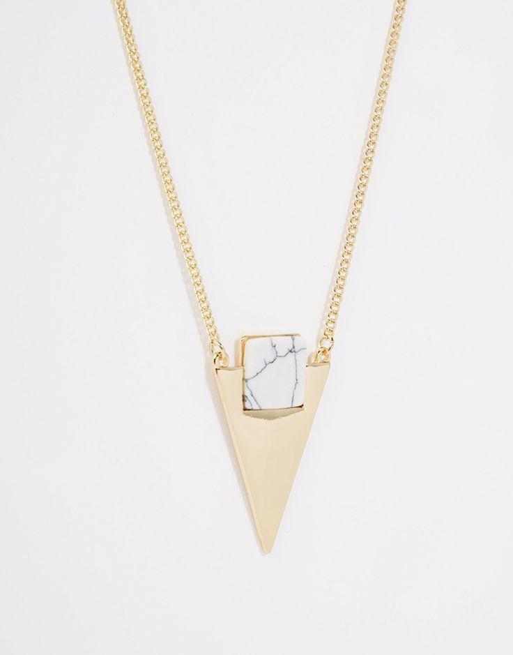 Imagen 2 de Collar con diseño de triángulo con gema Hanny de Monki