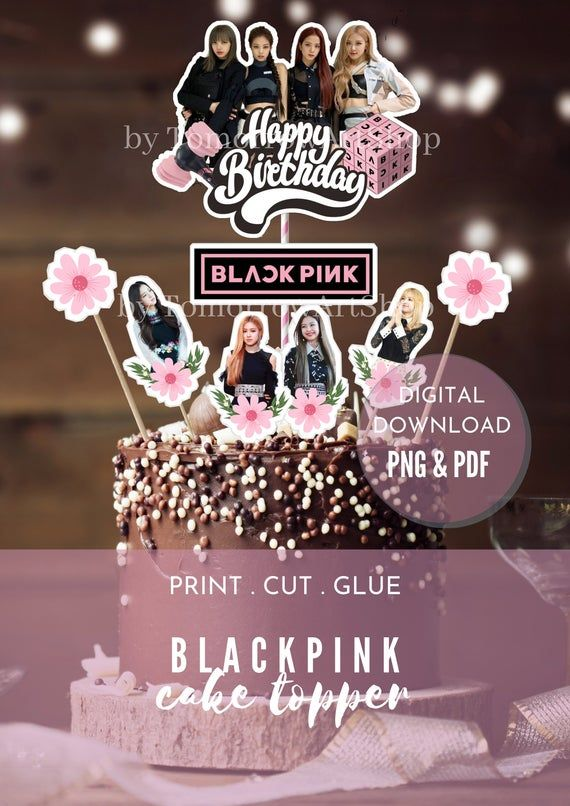 Blackpink Party Supply Blackpink Cake Topper Blackpink Cupcake Topper Blackpink Party Decor Blackpink Centerpiece Blackpink Sticker