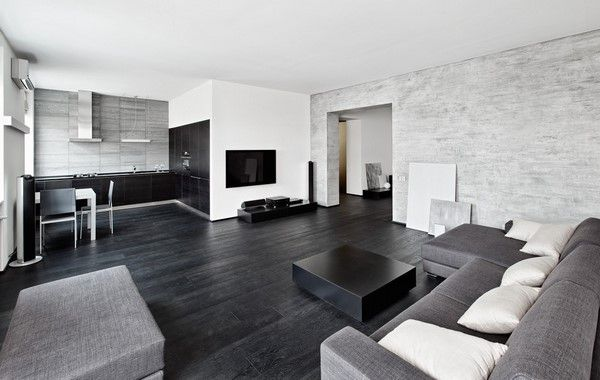 Modern Black And White Living Room Interiors Stylish Design