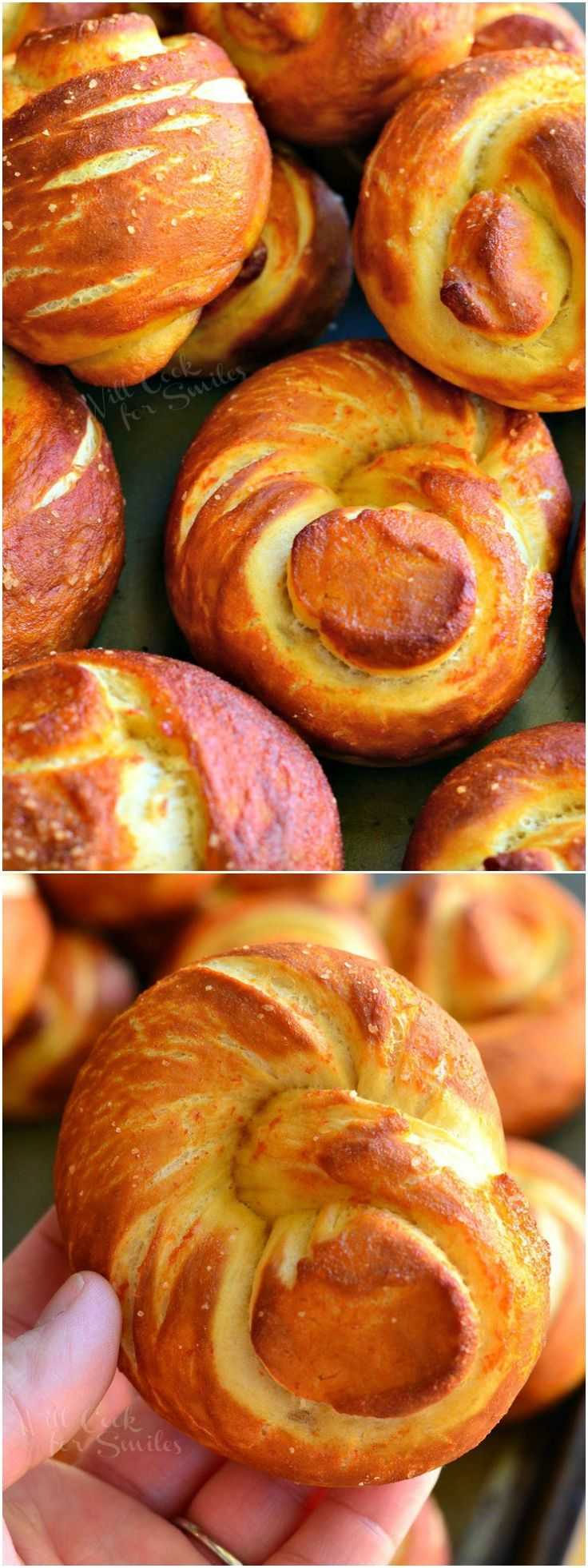 Sriracha Honey Pretzel Knots from willcookforsmiles.com #snack #spicy #gameday