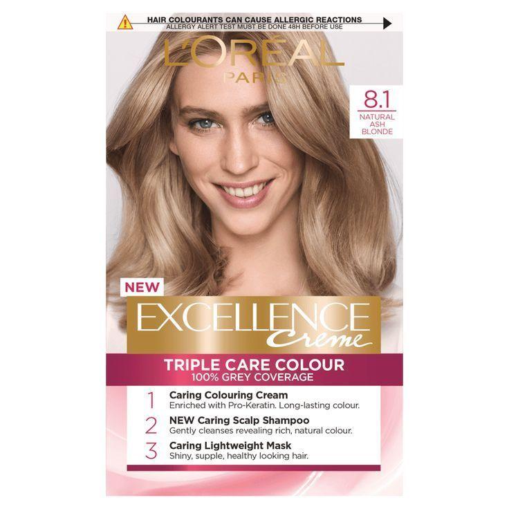 L Oreal Paris Excellence Creme 8 1 Natural Ash Blonde Hair Dye