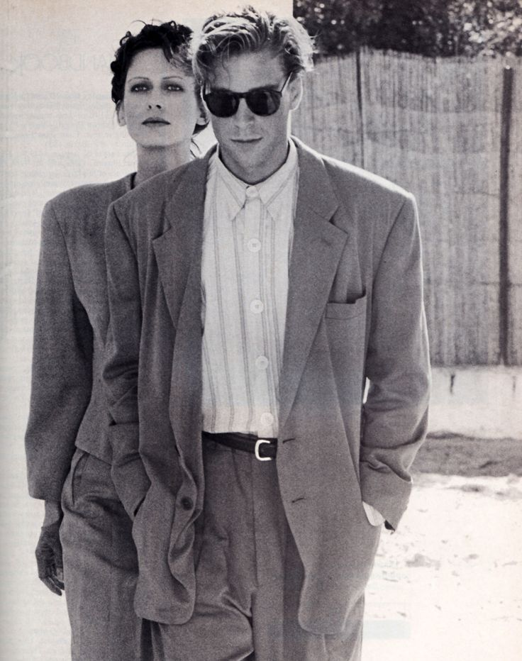 Periodicult Giorgio Armani Los Angeles Magazine April - Männermode 80er Jahre