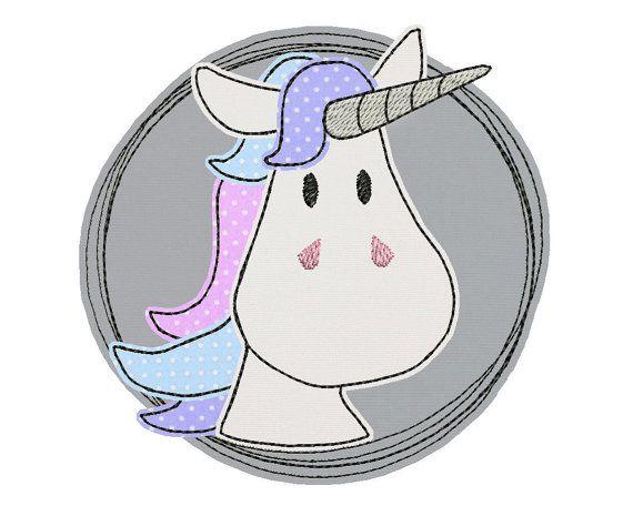 Stickdatei Einhorn Doodle Button 10x10 von MueDe auf Etsy