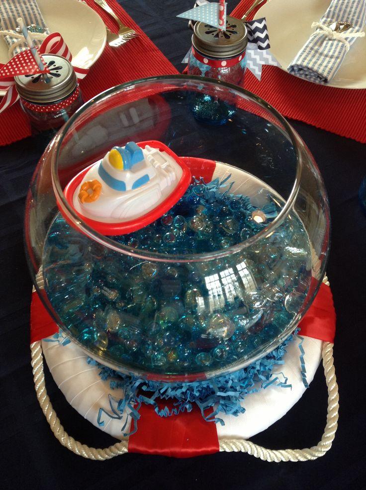 Nautical Baby Shower Table Center Piece Lauren S