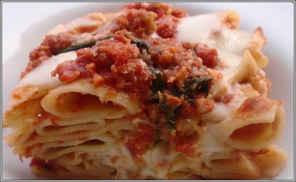 [VGT] Pasta al forno con ragù di polpette di melanzane peperoni e zucchine