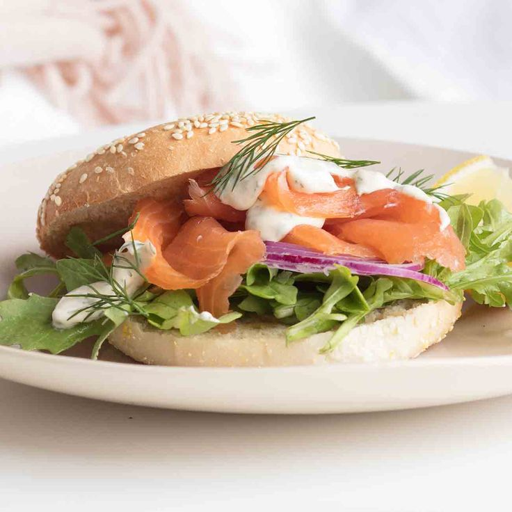 Smoked Salmon Bagels - For all you salmon lovers out there